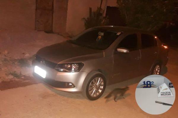 Assaltante é preso e carro é recuperado em Contagem