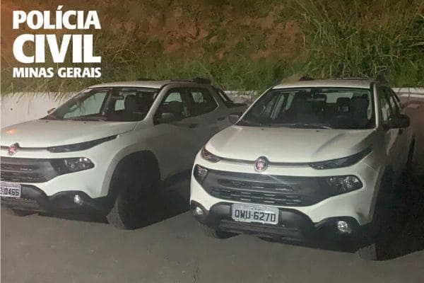 Polícia recupera veículos furtados da Secretaria de Saúde de Contagem