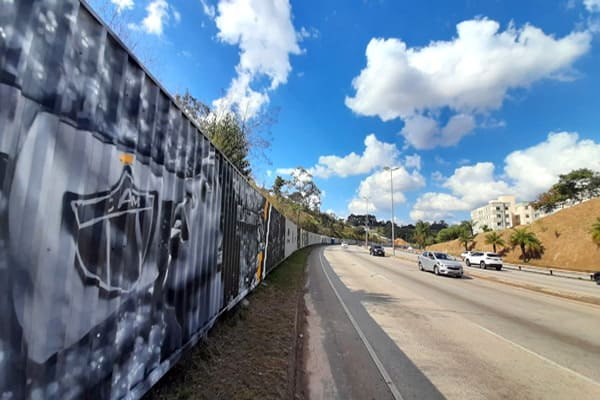 Grafites na futura Arena do Galo atrai olhares
