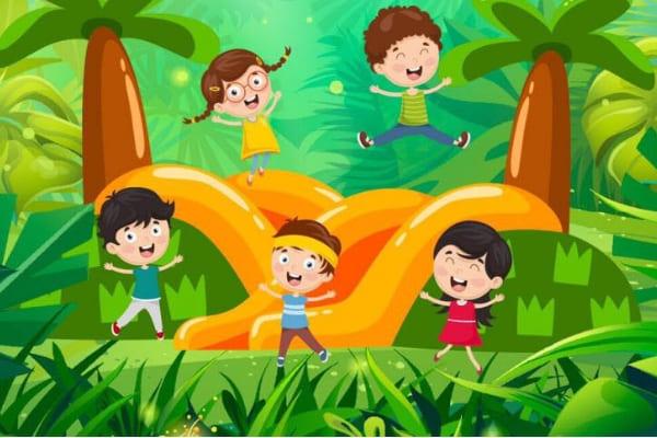 Brinquedo inflável é nova opção de diversão para crianças