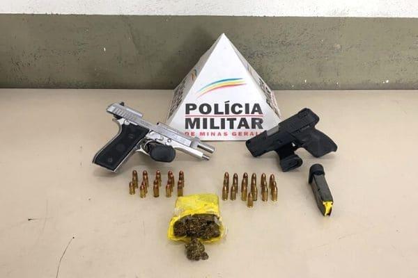 Dupla é presa com armas, munições e droga no Bom Jesus