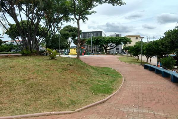 Praça da Glória recebe mutirão de capina