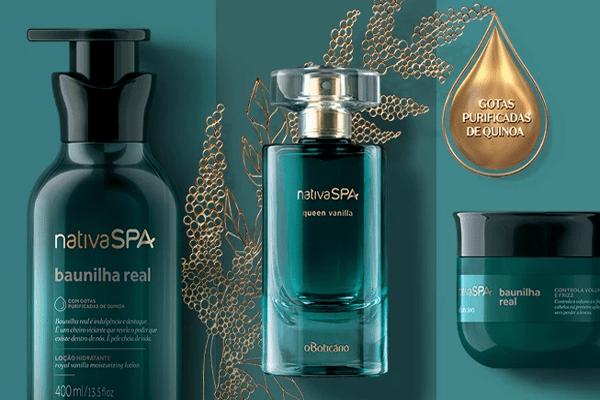 Nativa SPA Baunilha Real com perfumaria fina