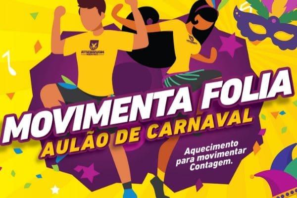 Programa Movimenta Contagem terá aulão de carnaval