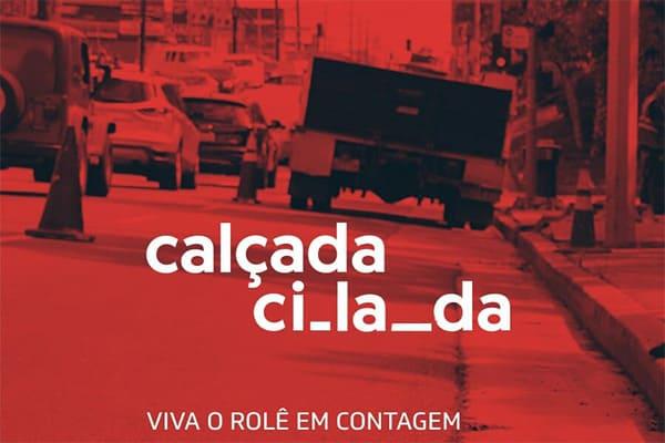 Campanha Calçada#Cilada faz intervenção em Contagem