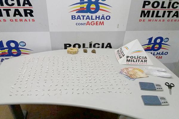 Casal é preso por tráfico de drogas, em Contagem