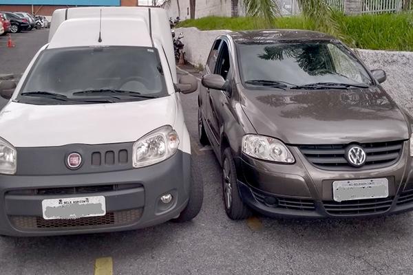 Polícia recupera veículos roubados em dois bairros de Contagem