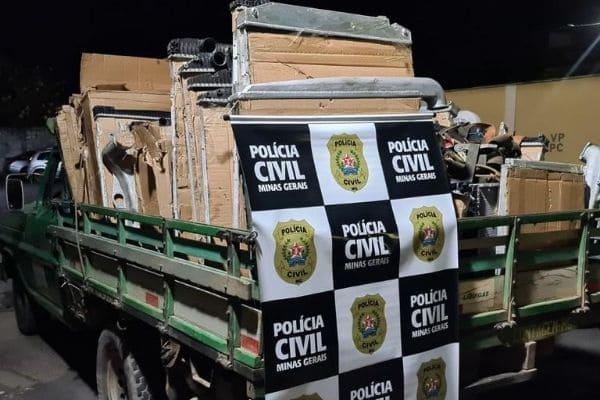 Carga furtada no Triângulo Mineiro é encontrada em Contagem