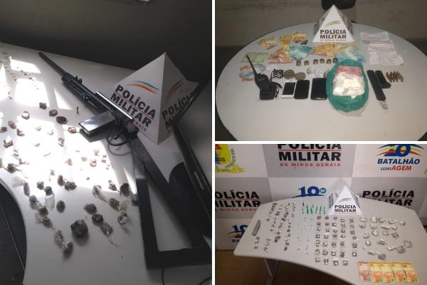 PM apreende arma e grande quantidade de drogas em Contagem