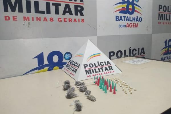 Polícia apreende drogas e recupera objetos roubados em Contagem