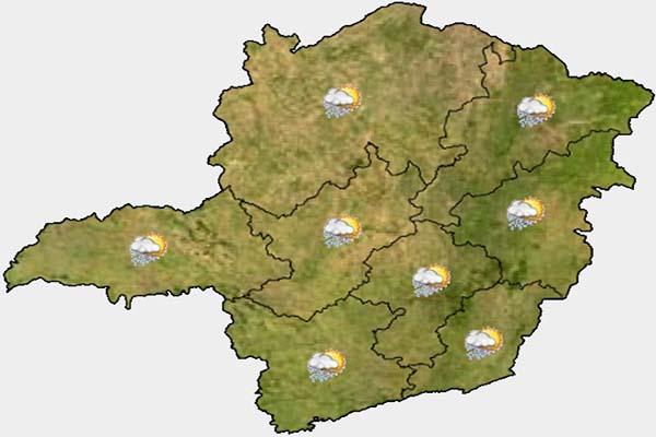 Calor e umidade favorecem ocorrência de chuva na Grande BH