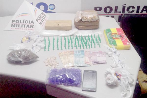 PM apreende grande quantidade de drogas no Sapucaias
