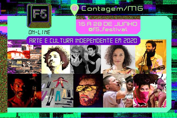 Festival F5 digital, versátil e desafiador