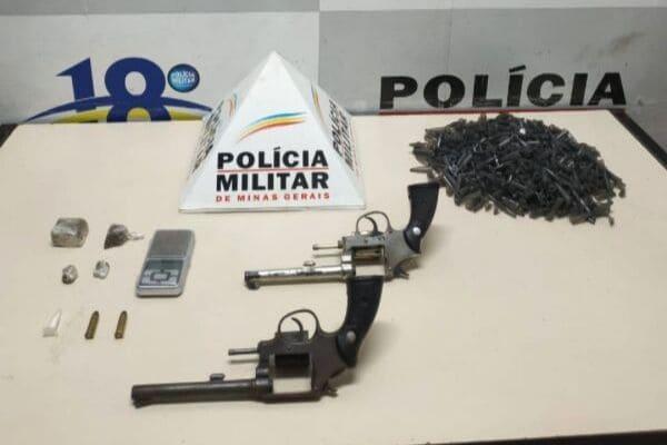 PM apreende quatro armas no bairro Nova Contagem