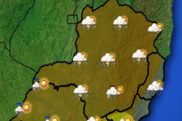 Tempo deve continuar chuvoso em Contagem até sábado