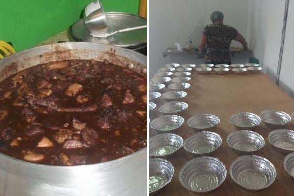 Cozinha solidária oferece almoço gratuito no Ipê Amarelo