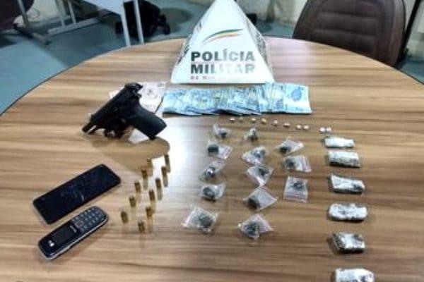 Polícia detém trio com arma e drogas em Contagem