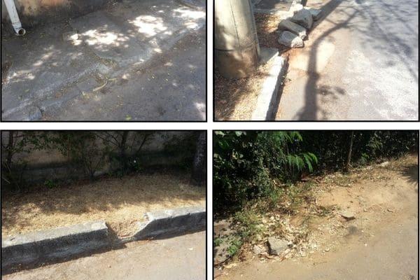 Moradores do Vila Boa Vista solicitam reparos em guias de calçadas