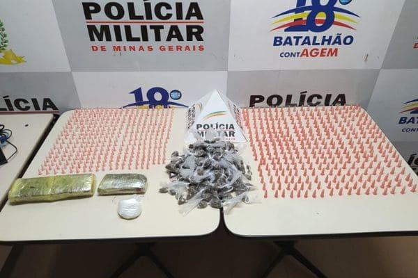 PM confirma denúncia de tráfico de drogas no Nova Contagem