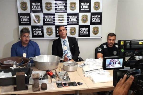 Polícia desmonta laboratório de cocaína em Contagem