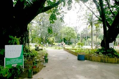 Mostra ambiental no Parque Ecológico.