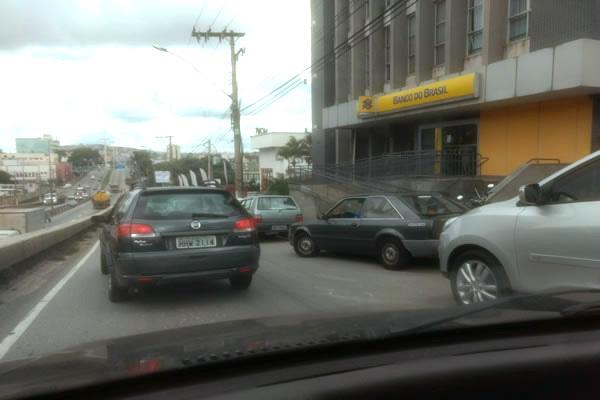 Flagrante de estacionamento proibido