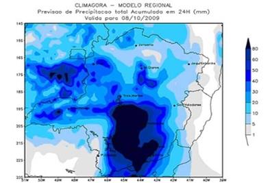 Alerta de chuvas fortes em Contagem e região metropolitana