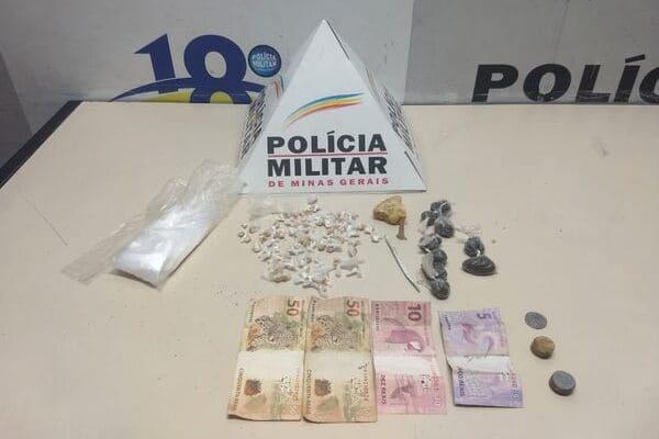 Mulher e adolescente são detidos com drogas em operações da PM