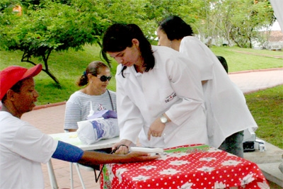 Saúde na Praça, exames grátis