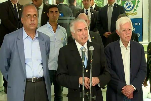 Temer, Franco e Pezão ficariam na mesma prisão