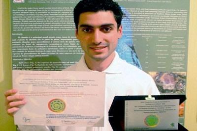Estudante contagense é premiado em São Paulo.