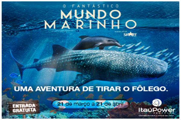 Fantástico Mundo Marinho invadiu o ItaúPower Shopping!