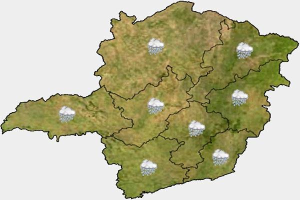 Semana começa com chuva em Contagem