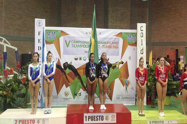 Ginastas de trampolim de Contagem conquistam 15 medalhas na Colômbia