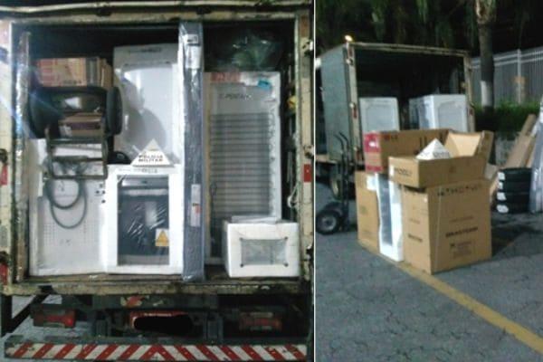 Caminhão e carga roubados são recuperados em Contagem