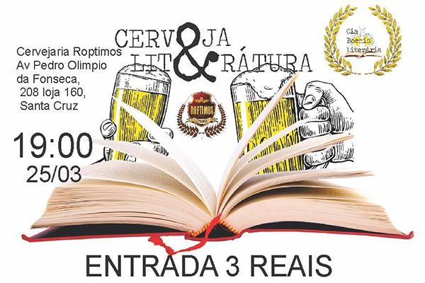 Sarau Cerveja & Literatura é atração de fim de semana em Contagem