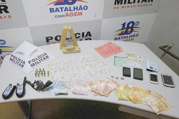 PM apreende grande quantidade de drogas no bairro Praia