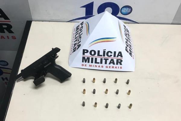 Adolescente é apreendido com pistola 9 mm em Contagem