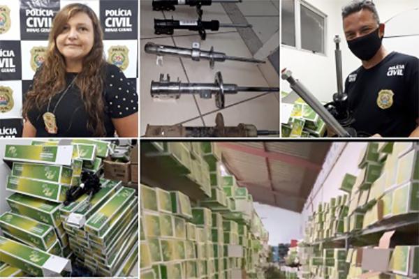 Preso em Contagem suspeito de recondicionar peças automotivas proibidas