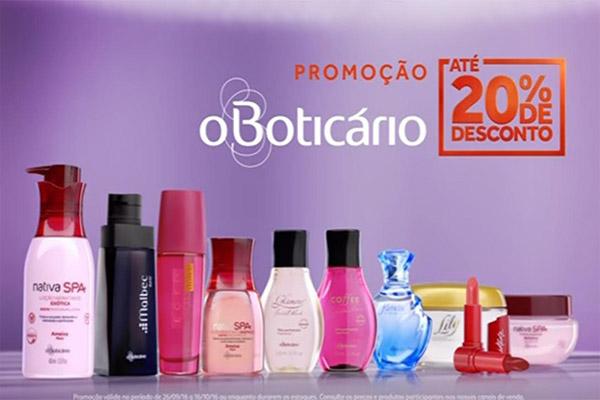 O Boticário faz promoção em todo o Brasil