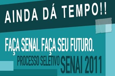 Processo seletivo para 2011 do SENAI-MG