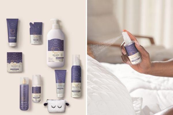 O Boticário lança produtos para um ritual de banho e sono relaxantes