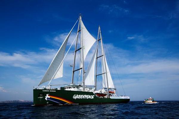 Greenpeace comemora 25 anos no Brasil e abre navio a visitação popular