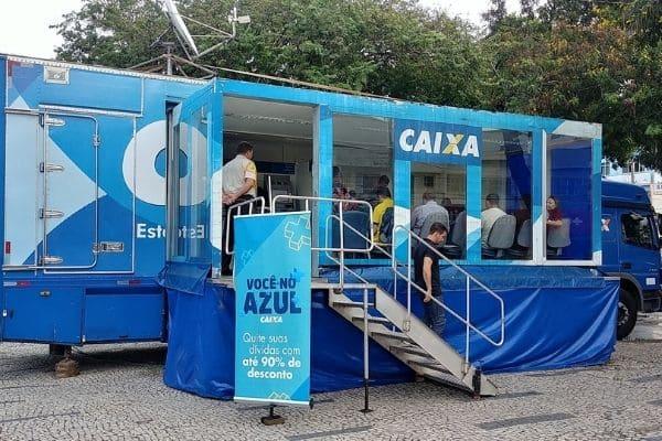 Caminhão de renegociação de dívidas da Caixa está em Contagem