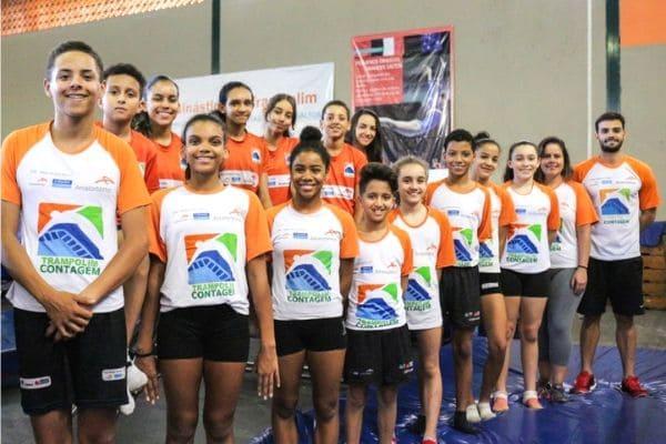 Ginastas de Contagem disputam Campeonato Estadual de Trampolim