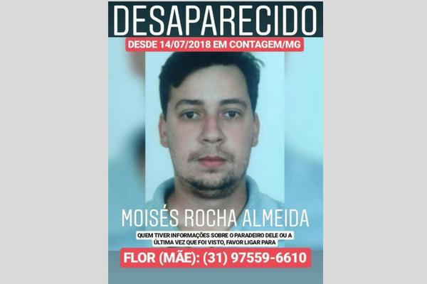 Família pede ajuda para localizar homem desaparecido