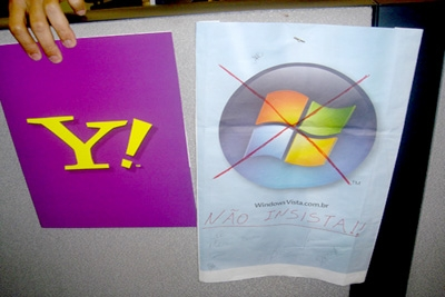Microsoft quer comprar o Yahoo por US$ 44,6 bilhões.
