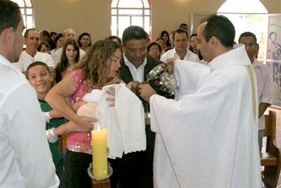 Batizado de Giovanna Coelho de Castro.
