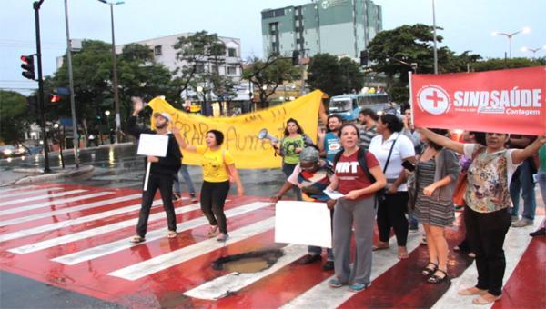 Protesto contra o aumento das passagens de ônibus
