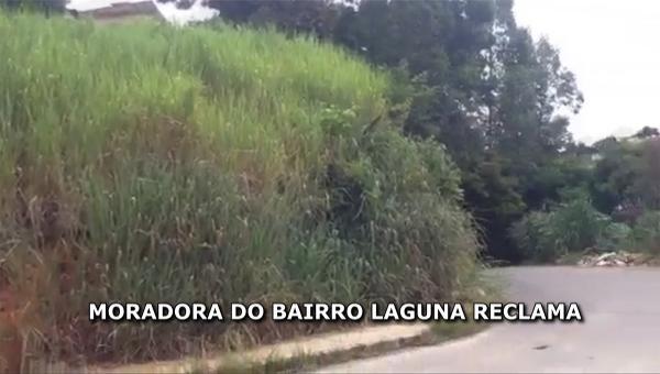 Moradora do bairro Laguna reclama
